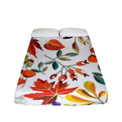 Autumn Flowers Pattern 7 Fitted Sheet (full/ Double Size) by tarastyle