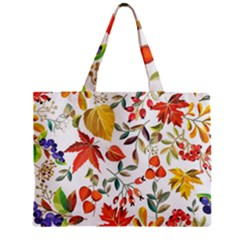 Autumn Flowers Pattern 7 Zipper Mini Tote Bag by tarastyle