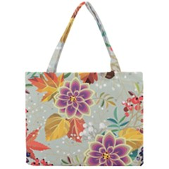 Autumn Flowers Pattern 9 Mini Tote Bag by tarastyle