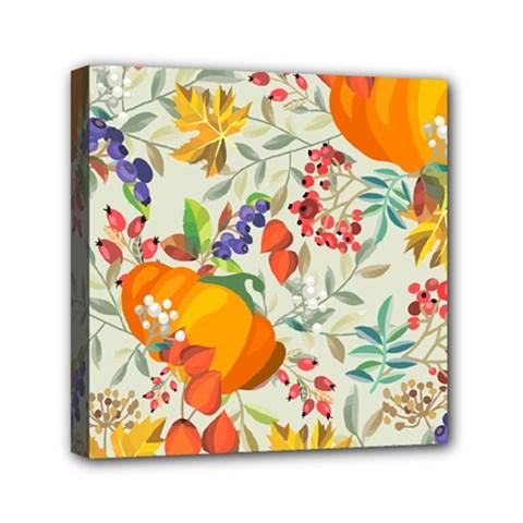 Autumn Flowers Pattern 11 Mini Canvas 6  X 6  by tarastyle