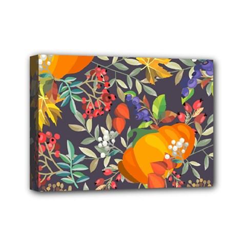 Autumn Flowers Pattern 12 Mini Canvas 7  X 5  by tarastyle