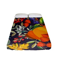 Autumn Flowers Pattern 12 Fitted Sheet (full/ Double Size) by tarastyle