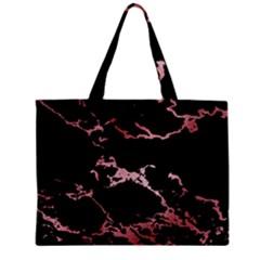Luxurious Pink Marble 2 Zipper Mini Tote Bag by tarastyle