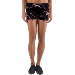Luxurious Pink Marble 2 Yoga Shorts by tarastyle
