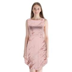 Luxurious Pink Marble 3 Sleeveless Chiffon Dress   by tarastyle