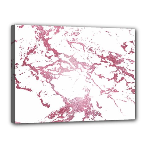Luxurious Pink Marble 4 Canvas 16  X 12  by tarastyle