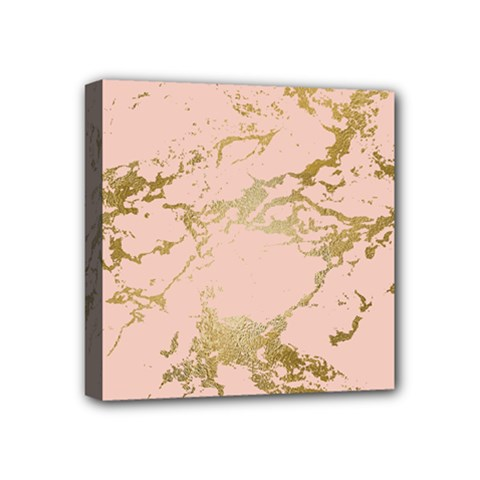 Luxurious Pink Marble 5 Mini Canvas 4  X 4  by tarastyle