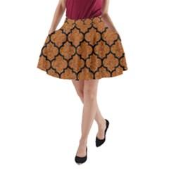 Tile1 Black Marble & Rusted Metal A Line Pocket Skirt by trendistuff