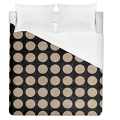 Circles1 Black Marble & Sand (r) Duvet Cover (queen Size) by trendistuff