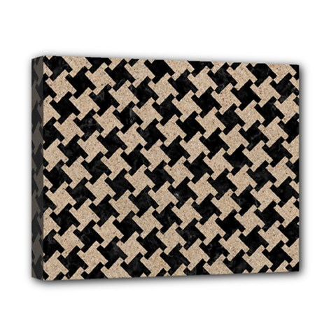 Houndstooth2 Black Marble & Sand Canvas 10  X 8  by trendistuff