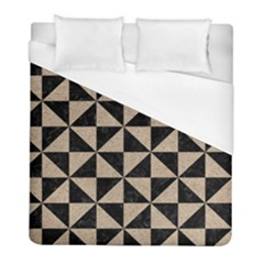 Triangle1 Black Marble & Sand Duvet Cover (full/ Double Size) by trendistuff