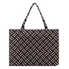 Woven2 Black Marble & Sand (r) Medium Tote Bag by trendistuff