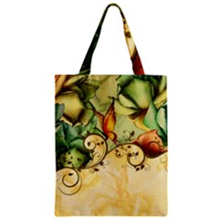 Wonderful Flowers With Butterflies, Colorful Design Zipper Classic Tote Bag by FantasyWorld7