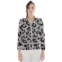 Skin5 Black Marble & Silver Foil (r) Wind Breaker (women) by trendistuff