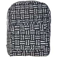 Woven1 Black Marble & Silver Foil (r) Full Print Backpack by trendistuff