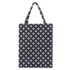 Circles3 Black Marble & Silver Glitter Classic Tote Bag by trendistuff