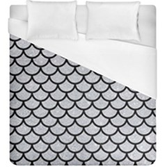 Scales1 Black Marble & Silver Glitter Duvet Cover (king Size) by trendistuff