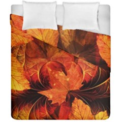 Ablaze With Beautiful Fractal Fall Colors Duvet Cover Double Side (california King Size) by jayaprime