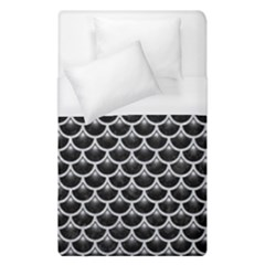 Scales3 Black Marble & Silver Glitter (r) Duvet Cover (single Size) by trendistuff