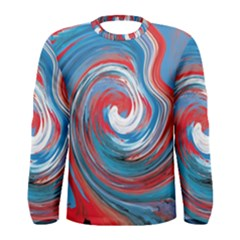 Red And Blue Rounds Men s Long Sleeve Tee by berwies