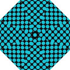 Circles2 Black Marble & Turquoise Colored Pencil (r) Golf Umbrellas by trendistuff