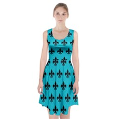Royal1 Black Marble & Turquoise Colored Pencil (r) Racerback Midi Dress by trendistuff