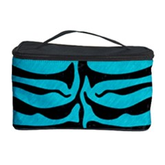 Skin2 Black Marble & Turquoise Colored Pencil Cosmetic Storage Case by trendistuff