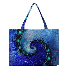 Nocturne Of Scorpio, A Fractal Spiral Painting Medium Tote Bag by beautifulfractals