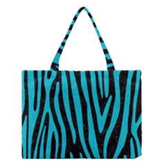 Skin4 Black Marble & Turquoise Colored Pencil Medium Tote Bag by trendistuff