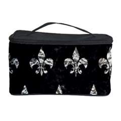 Royal1 Black Marble & Silver Foil Cosmetic Storage Case by trendistuff