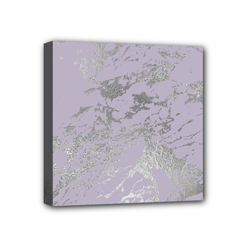 Luxurious Pink Marble Mini Canvas 4  X 4  by tarastyle