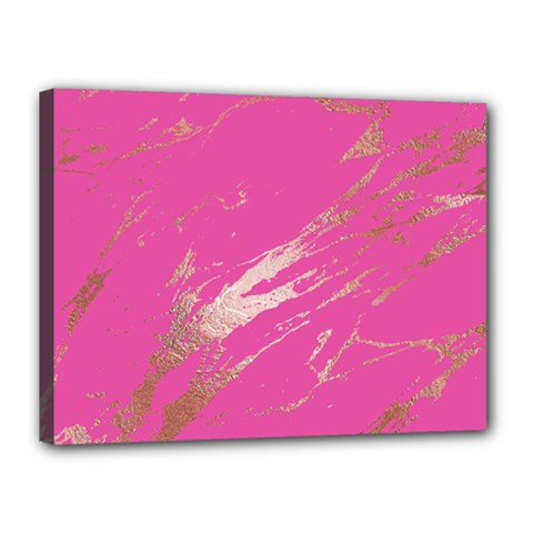 Luxurious Pink Marble Canvas 16  X 12  by tarastyle