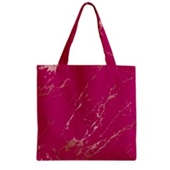 Luxurious Pink Marble Zipper Grocery Tote Bag by tarastyle