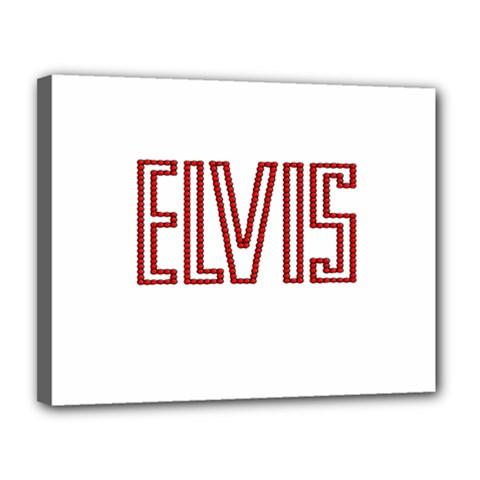 Elvis Presley Canvas 14  X 11  by Valentinaart