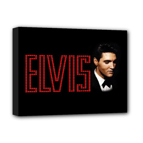 Elvis Presley Deluxe Canvas 16  X 12   by Valentinaart