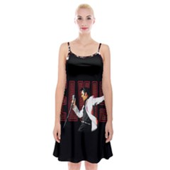 Elvis Presley Spaghetti Strap Velvet Dress
