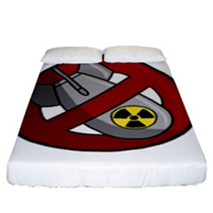 No Nuclear Weapons Fitted Sheet (king Size) by Valentinaart