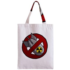 No Nuclear Weapons Zipper Classic Tote Bag by Valentinaart