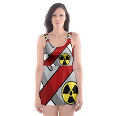 No Nuclear Weapons Skater Dress Swimsuit by Valentinaart