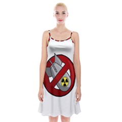 No Nuclear Weapons Spaghetti Strap Velvet Dress