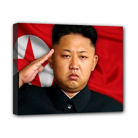 Kim Jong Un Canvas 10  X 8  by Valentinaart