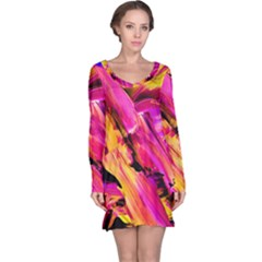 Abstract Acryl Art Long Sleeve Nightdress by tarastyle