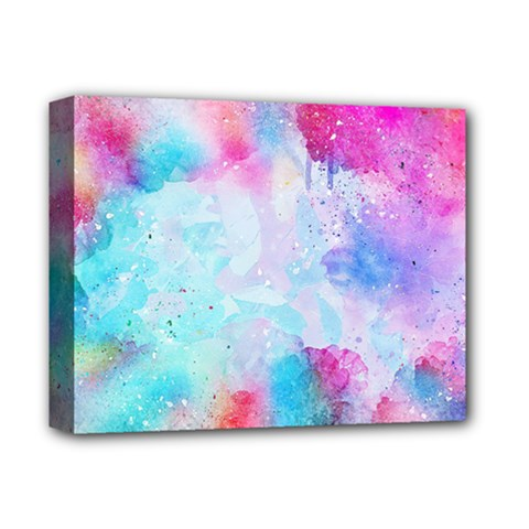 Pink And Purple Galaxy Watercolor Background  Deluxe Canvas 14  X 11  by paulaoliveiradesign