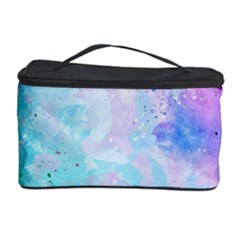 Pink And Purple Galaxy Watercolor Background  Cosmetic Storage Case by paulaoliveiradesign