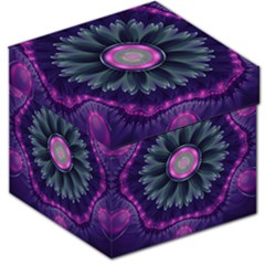 Beautiful Hot Pink And Gray Fractal Anemone Kisses Storage Stool 12   by beautifulfractals