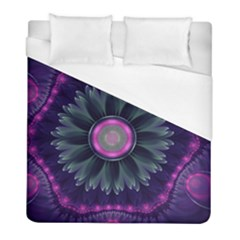 Beautiful Hot Pink And Gray Fractal Anemone Kisses Duvet Cover (full/ Double Size) by beautifulfractals