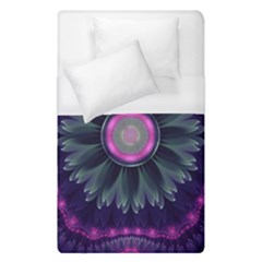 Beautiful Hot Pink And Gray Fractal Anemone Kisses Duvet Cover (single Size) by beautifulfractals
