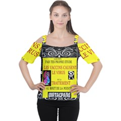 Vaccine  Story Mrtacpans Cutout Shoulder Tee by MRTACPANS