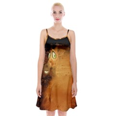 The Funny, Speed Giraffe Spaghetti Strap Velvet Dress