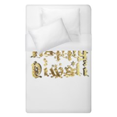 Happy Diwali Gold Golden Stars Star Festival Of Lights Deepavali Typography Duvet Cover (single Size) by yoursparklingshop